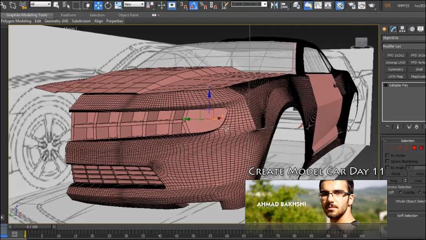 فصل دوازدم آموزش ساخت ماشین در 3d max