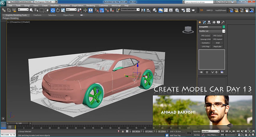 Create Model Car in 3d Max