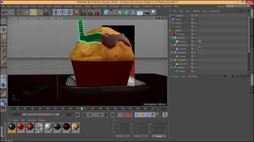 آموزش شبیه سازی مابعات در نرم افزار Cinema 4d