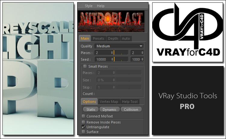 دانلود Vray - HDRI Light KitPro - Nitro4D NitroBlast - VRay Studio Tools PRO
