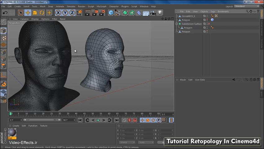 tutorial retopology in Cinema4d