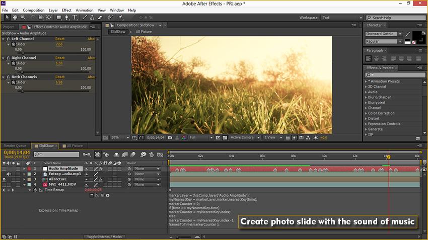 آموزش ساخت اسلایدر عکس در نرم افزار افتر افکت
