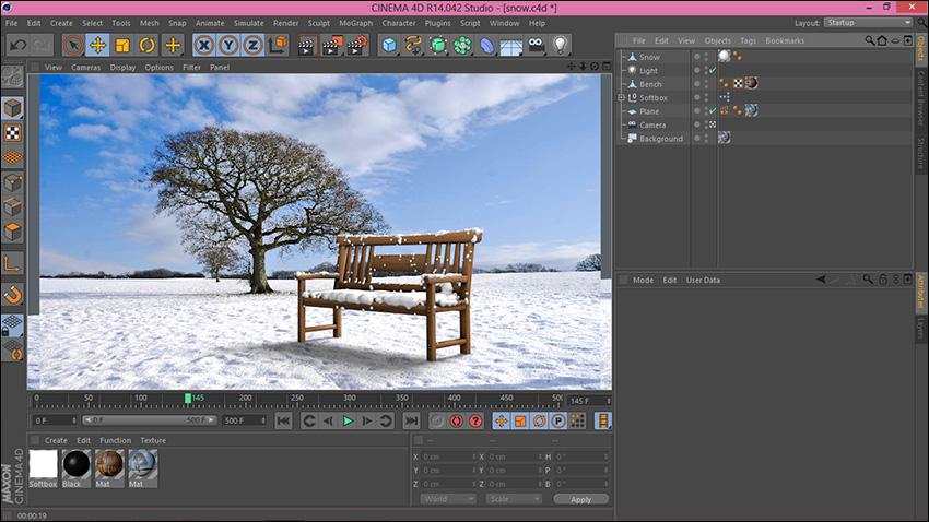 آموزش ساخت برف سه بعدی